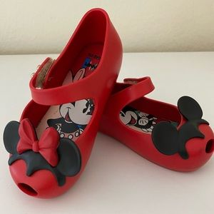 Mini Mellisa Red Minnie and Mickey Shoes